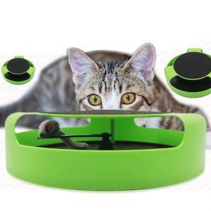 Juguete para gatos, didáctico, con rascador