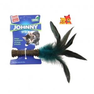 GIGWI Jhonny Stick Una Pluma para gatos