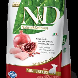 N&D CANINO PUPPY MINI BREED POLLO & GRANADA 2.5KG