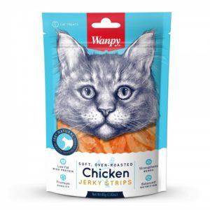 WANPY CHICKEN JERKY FOR CATS 80 GR