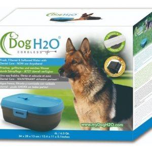 DOG&CAT H2O FUENTE DE AGUA PERRO AZUL 6 L A PILAS