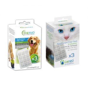 DOG&CAT H2O KIT FILTRO FUENTE CON CABLE PERRO Y GATO H2O X3 | R-015-CH