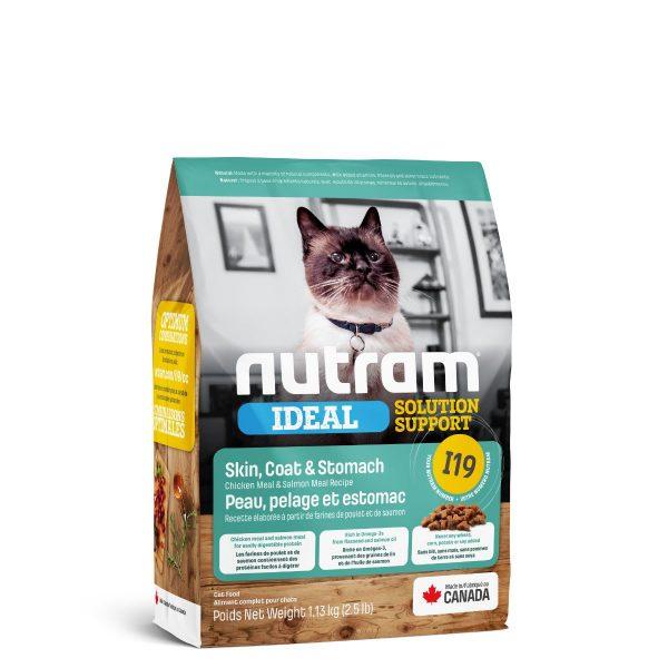 NUTRAM I19 SKIN COAT & STOMACH CAT 1.13 KG