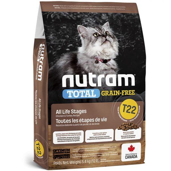 NUTRAM T22 GRAIN FREE CHICKEN & TURKEY CAT 1.13 KG