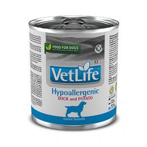 VETLIFE WF DOG HYPOALLERGENIC DUCK AND POTATO 300 GRS